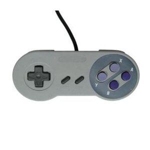 MANETTE JEUX VIDÉO Manette de Jeu grise pour Nintendo Super NES