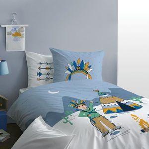 HOUSSE DE COUETTE SEULE Parure de lit enfant - imprimé fantaisie  - 100% c