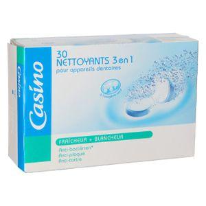 FIL DENTAIRE CASINO Nettoyants 3en1 pour appareils dentaires. B