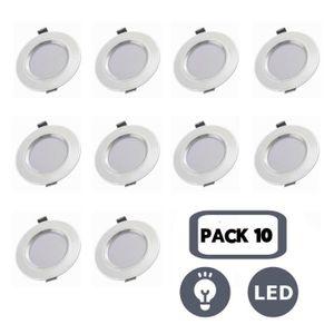 SPOTS - LIGNE DE SPOTS 10 Pack Spots Encastrables Rond LED Encastré LEDs