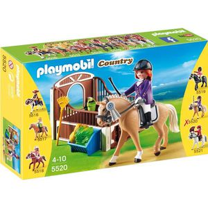UNIVERS MINIATURE PLAYMOBIL 5520 Cheval Warmblood et Cavalière