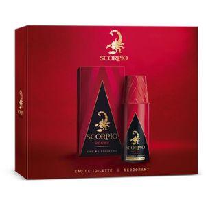 COFFRET CADEAU PARFUM SCORPIO Coffret Rouge Eau de Toilette 75 ml + Déod