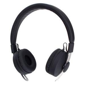 CASQUE - ÉCOUTEURS XQISIT BH100 Casque stéréo Bluetooth - Noir