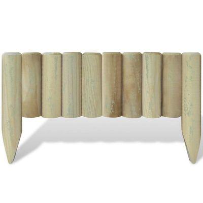 10 bordures de jardin en bois a planter 60 cm