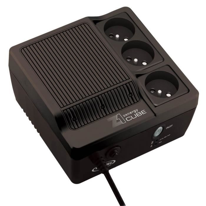 Infosec onduleur Z1 Zenergy Cube 400Va 3 prises