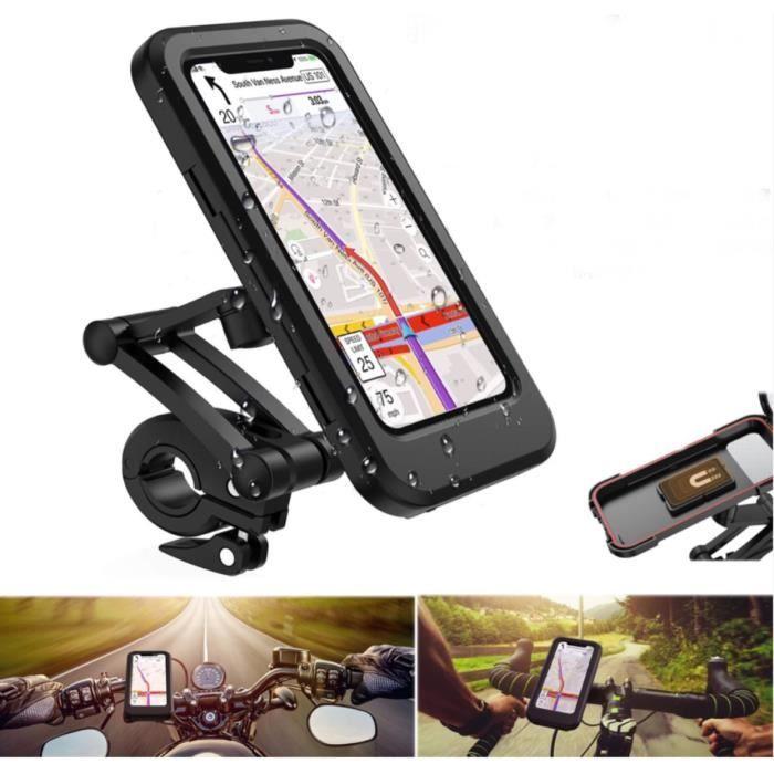 bestoem®Support de Vélo Moto Téléphone Berceau Collier avec Rotation 360° GPS étanche pour Smartphones Appareils pour 4-6,7- pouces