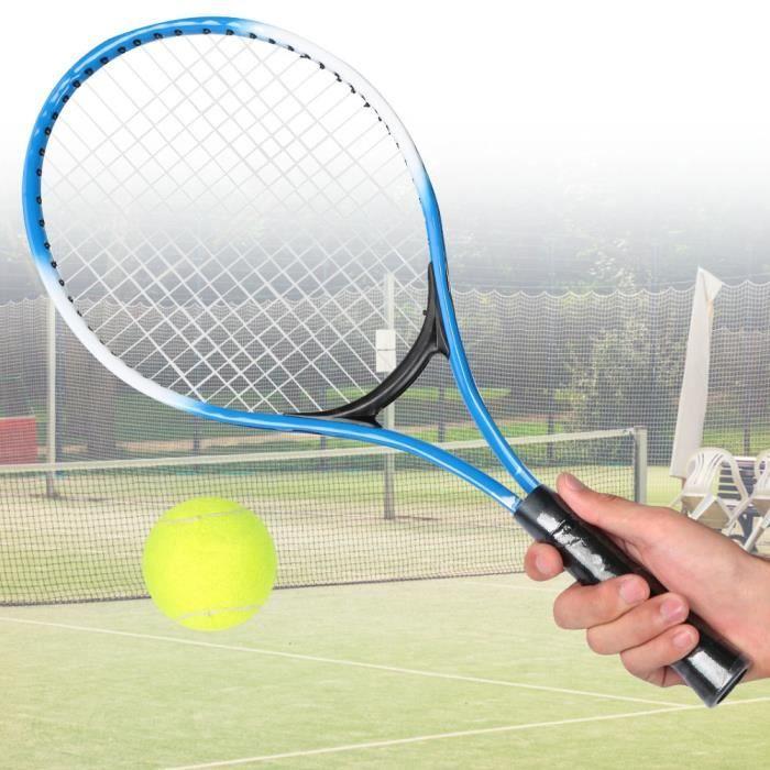 Raquette de tennis pour enfants en alliage de fer - Raquette d'entraînement pour débutants avec balle et sac de transport