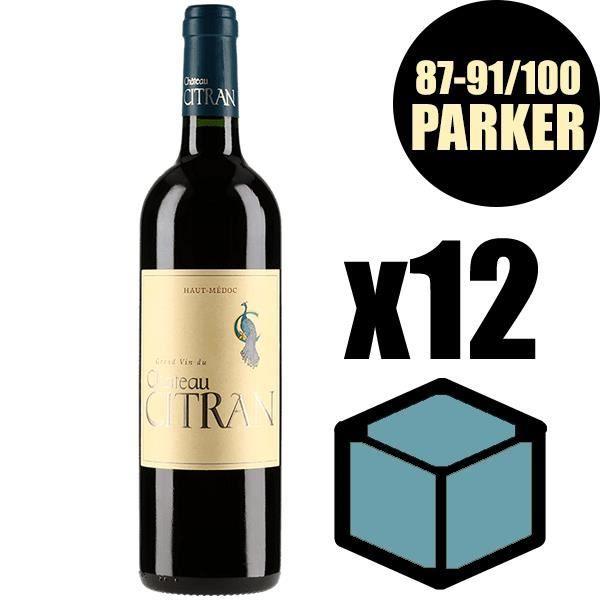 X12 Château Citran 2015 75 cl AOC Haut Medoc Rouge Vin Rouge
