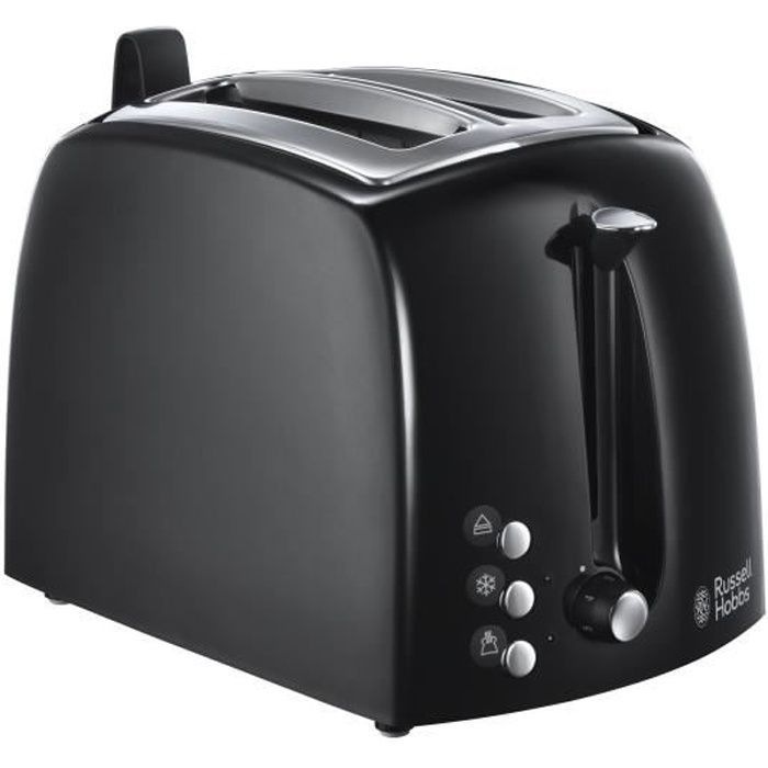 RUSSELL HOBBS 22601-56 Toaster Grille-Pain Texture Fentes Larges - Noir