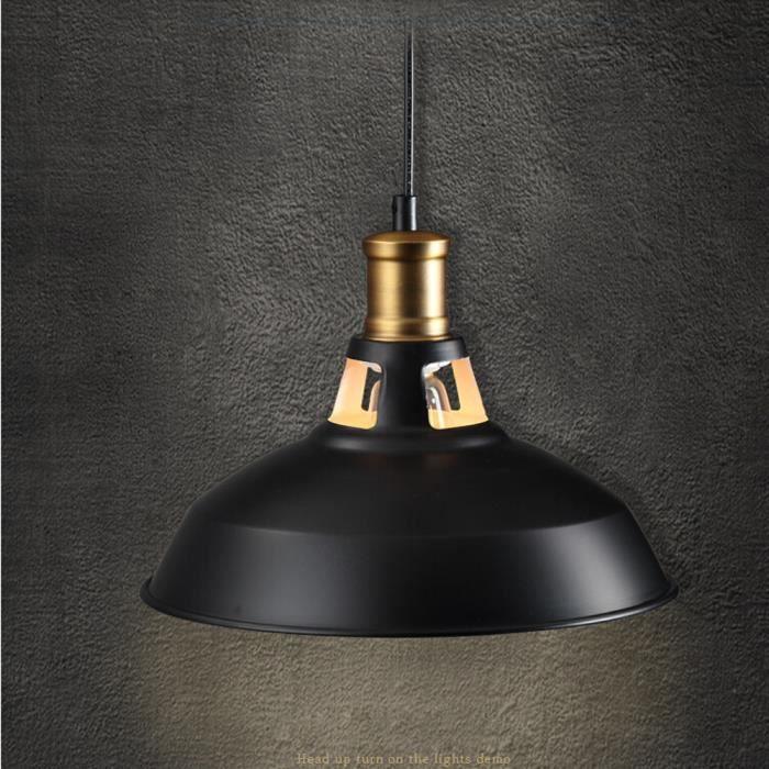 Yote 2PCS Rétro Lustre Suspensions Classique E27 Lampe Luminaire Industrielle pour Salle à Manger, Salon, Restaurant