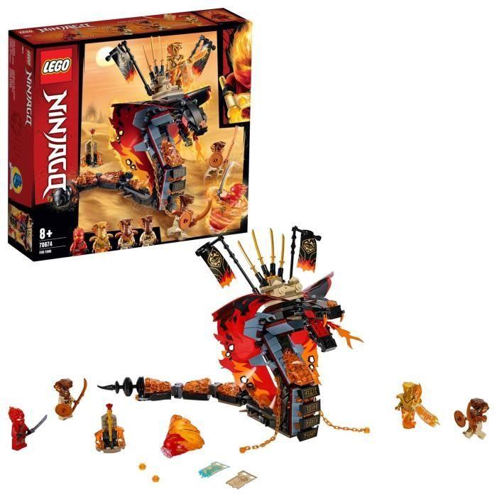 LEGO NINJAGO - Croc' feu, Jeu pour Enfant 8 Ans et Plus, Briques de Construction Garçon et Fille 463 Pièces - 70674