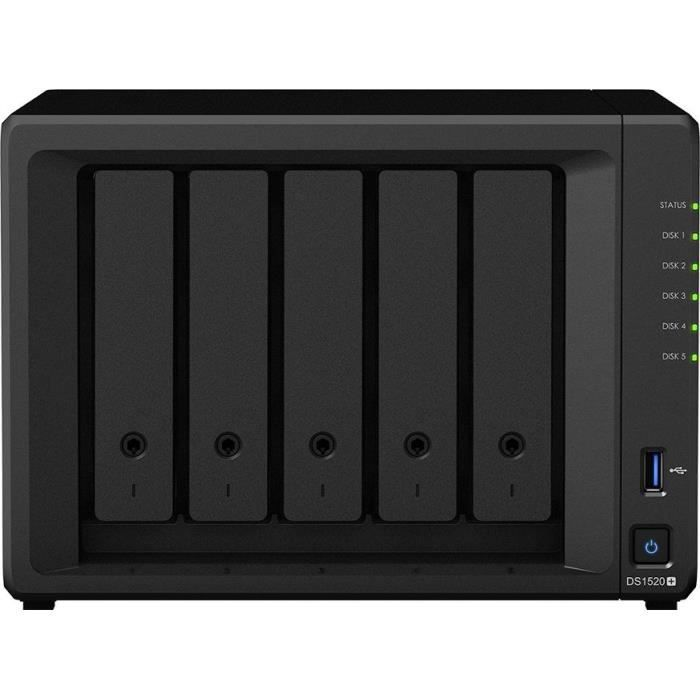 Boitier Synology DiskStation DS1520+ - Serveur de Stockage NAS