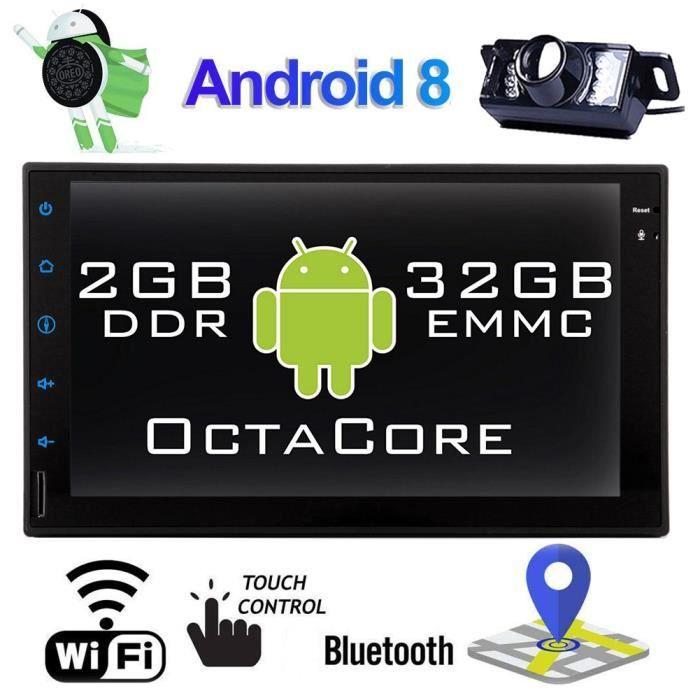 Android Car Stereo Double Din voiture Bluetooth stéréo 2DIN voiture radio avec caméra de recul de 7 pouces de navigation GPS pour vo