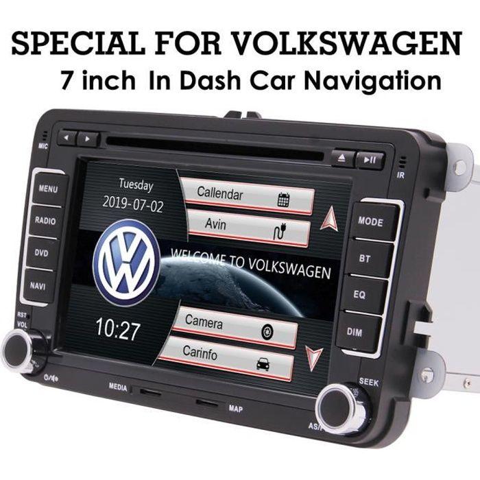7 pouces Radio Auto stéréo voiture pour VW Golf MK5 MK6 Passat Polo Jetta système de navigation GPS Lecteur DVD écran tactile capaci