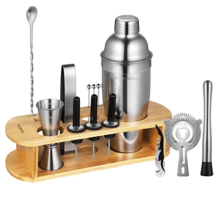 Homemaxs 17 pièces / Ensemble Outils de fabrication de Cocktails shaker - agitateur - set cocktail service aperitif - oenologie