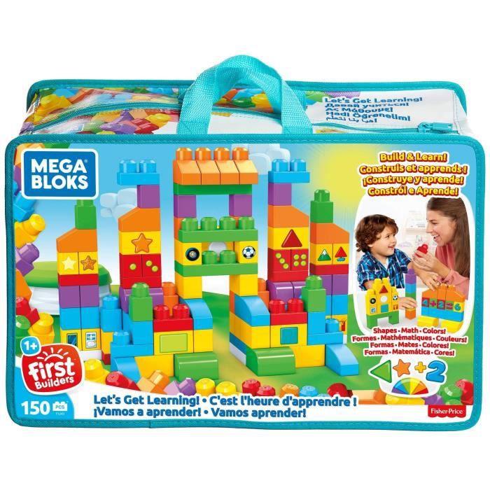 Mega Bloks Sac Construction Deluxe, 150 briques, jouet pour bébé et enfant de 1 à 5 ans, FVJ49