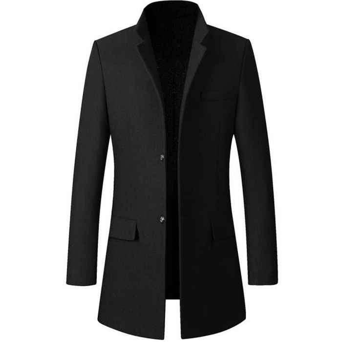 Trench-coat occasionnel de la mode des hommes d'affaires longue veste mince manteau Outwear