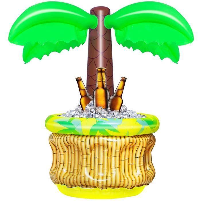 JOUET DE PLAGE-Pool party seau à glace boisson gonflable petit cocotier