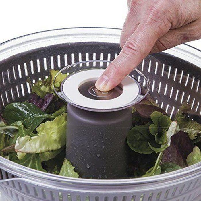 Progressive PL8-1700ML Essoreuse à Salade Pressé Plastique Gris