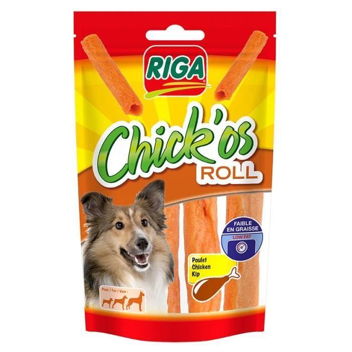 RIGA Chick'os Roll Friandises pour chien - Sachet 75 g