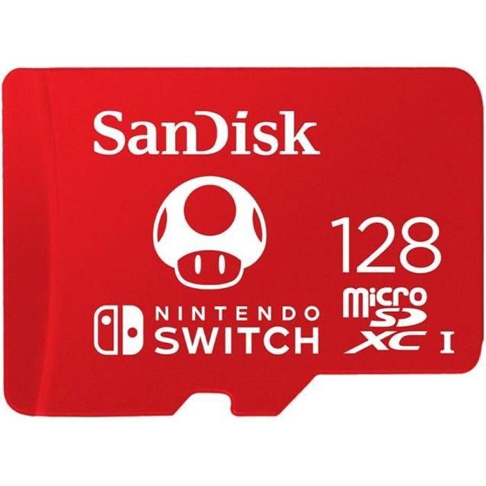 Sandisk Carte mémoire flash 128 Go Uhs I U3 Microsdxc Uhs I pour Nintendo Switch