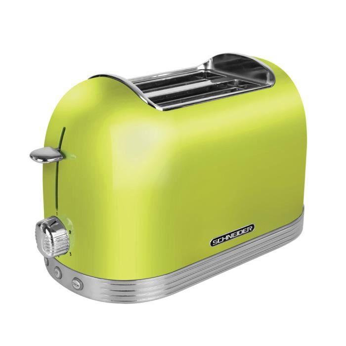 Schneider SL T2.2 LG Retro Toaster Vert Citron