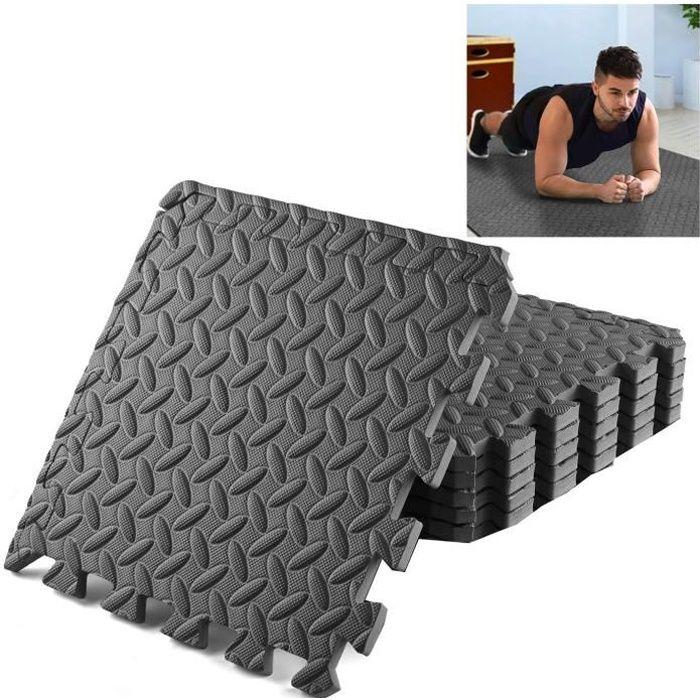 6 Dalles en Mousse 40x40 cm pour Sport Fitness - Tapis de Protection de Sol pour Musculation, Gym