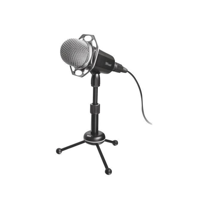 TRUST Microphone USB All-round - Compatible avec tous les ordinateurs fixes ou portables