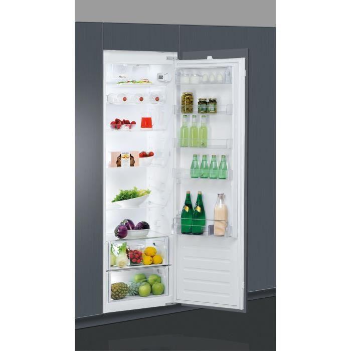 WHIRLPOOL ARG180701 - Réfrigérateur encastrable, 177,6 cm, 314 L, Blanc, A+, Charnières glissières, Froid brassé, 6ème Sens