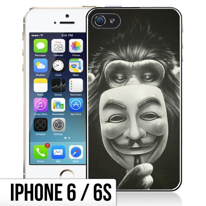 coque iphone 6 6s singe anonymous