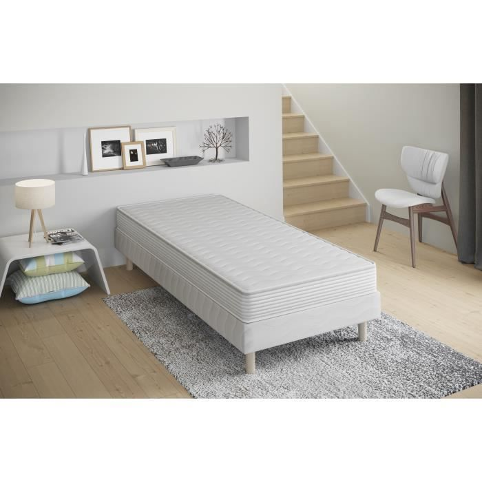 lit 1 personne matelas sommier achat vente lit 1. Black Bedroom Furniture Sets. Home Design Ideas