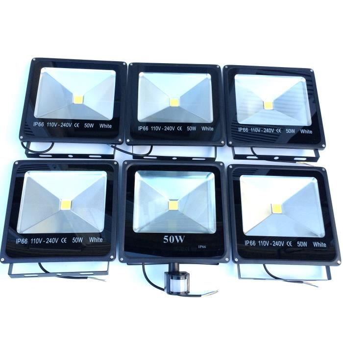 5 projecteurs led extra plat 50w ip66 1 projecteur led. Black Bedroom Furniture Sets. Home Design Ideas