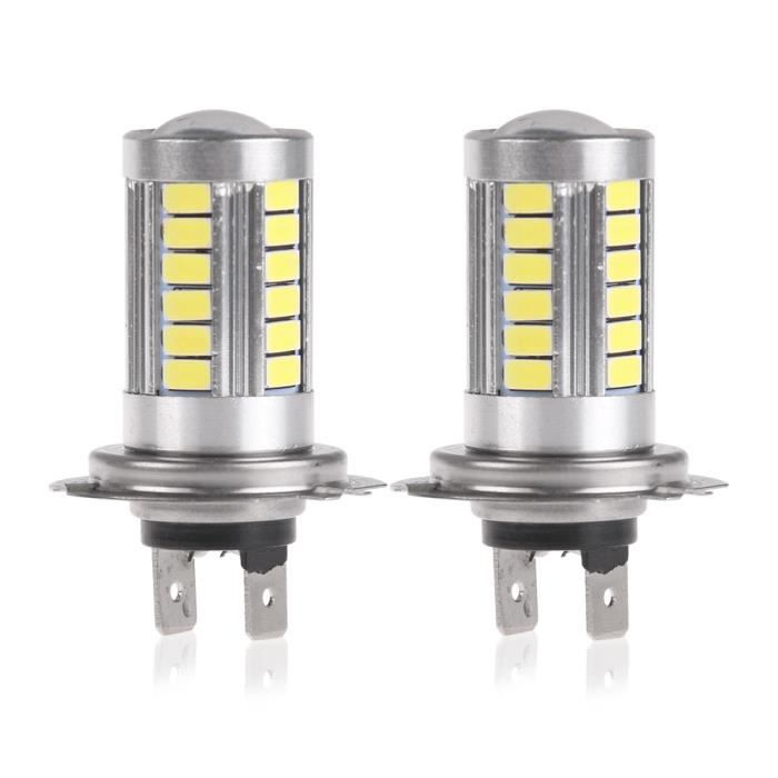 2pcs h7 5630 jour phare smd 33 led voiture phares antibrouillard courir conduite lampe ampoule. Black Bedroom Furniture Sets. Home Design Ideas