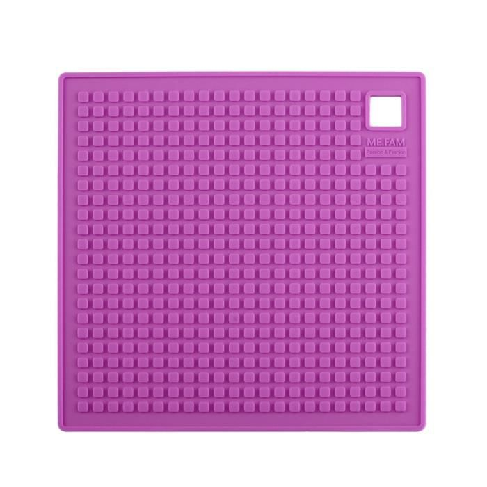 4pcs silicone sets de table violet carr achat vente for Set de table violet