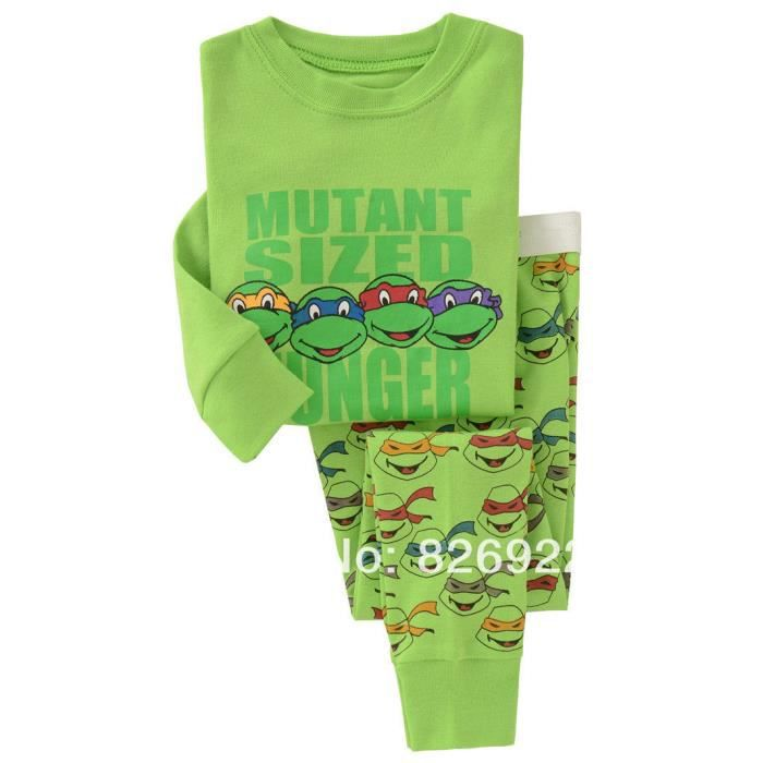 pyjama tortues ninja 100 coton 2 ans achat vente. Black Bedroom Furniture Sets. Home Design Ideas