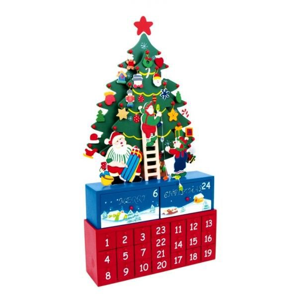 calendrier de l 39 avent en bois mod le sapin achat vente calendrier de l 39 avent bois cdiscount. Black Bedroom Furniture Sets. Home Design Ideas