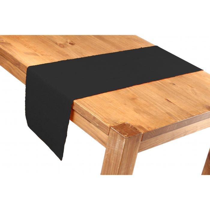 chemin de table 35x150 noir achat vente chemin de. Black Bedroom Furniture Sets. Home Design Ideas
