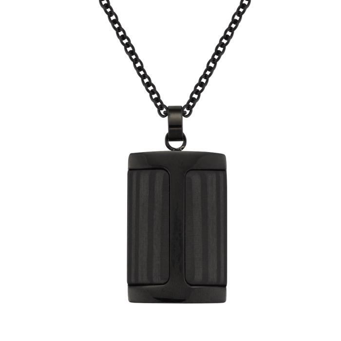 collier homme carbone