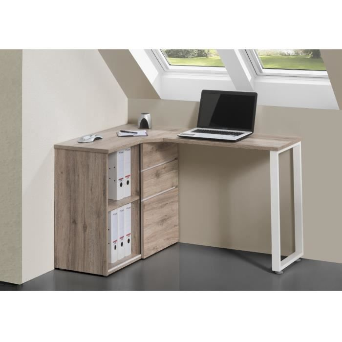 bureau angle 1 porte coulissante 130cm chene meubles bon prix moncornerdeco. Black Bedroom Furniture Sets. Home Design Ideas