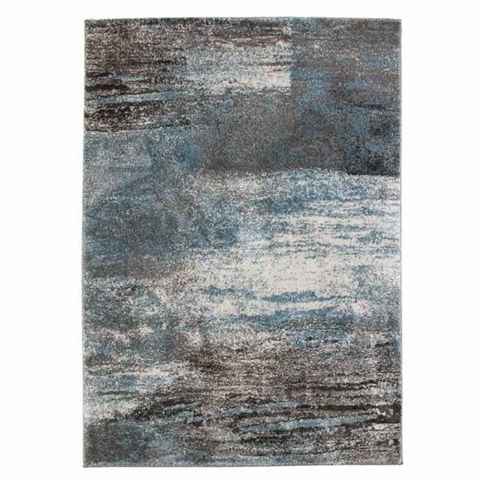 bombay tapis 133x190cm effet chin gris bleu achat vente tapis cdiscount. Black Bedroom Furniture Sets. Home Design Ideas