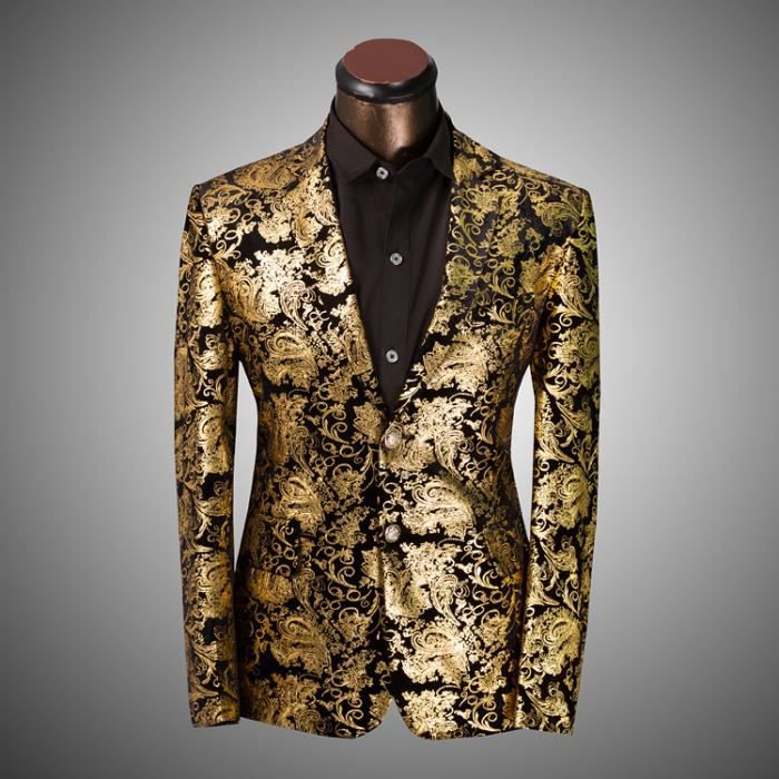 or les hommes de luxe baroque veste vintage floral imprimer hommes suit or achat vente gilet. Black Bedroom Furniture Sets. Home Design Ideas
