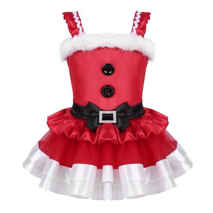 Costume Noel Enfant Robe de princesse Noël Enfant Fille   Costume De Père Noël Mère