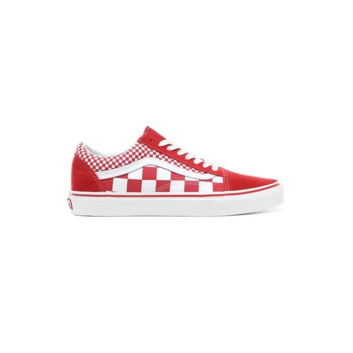 BASKET - vans old skool mix checker Rouge - Achat / Vente ...