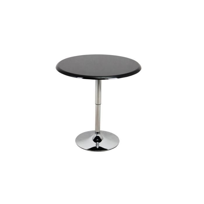 table de bistrot ronde noir selena achat vente table. Black Bedroom Furniture Sets. Home Design Ideas