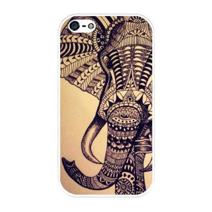 coque iphone 4 4s elephant azteque 1416