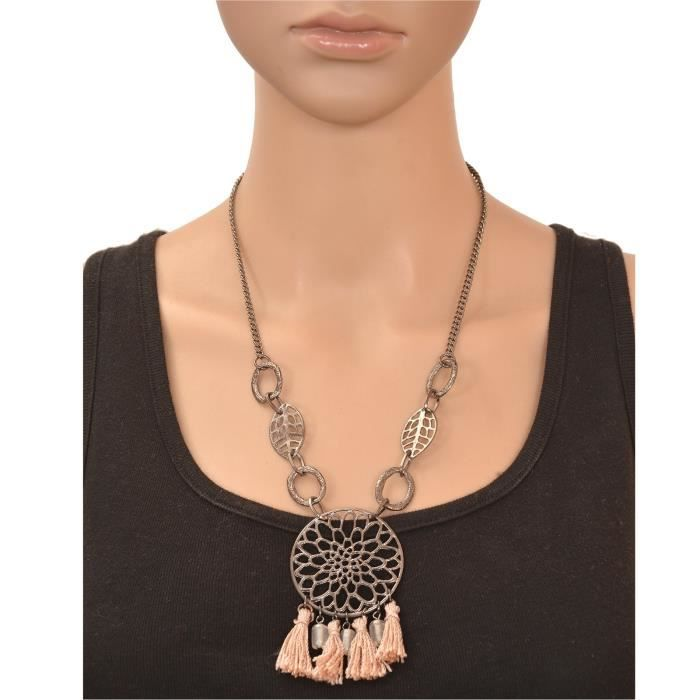 Womens Fashion Beaded Long Pendant Necklace With Tassels ForHHPAY