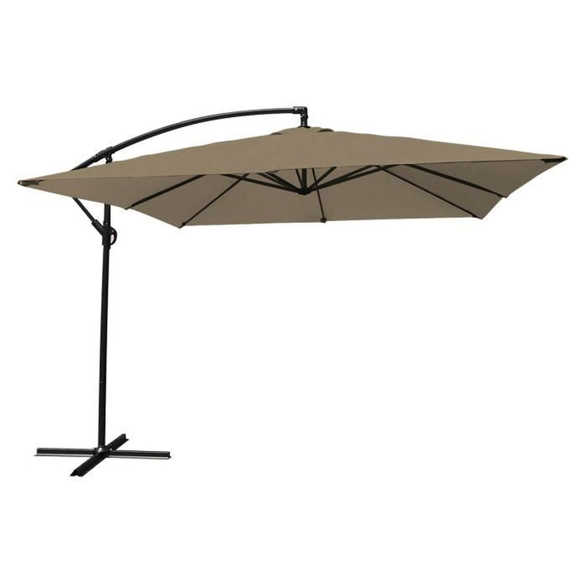 parasol d port carr achat vente parasol d port carr pas cher cdiscount. Black Bedroom Furniture Sets. Home Design Ideas