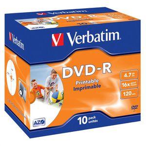 CD - DVD VIERGE Verbatim DVD-R Imprimable 16X (par10)