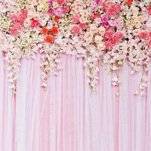 FOND DE STUDIO Fleur blanche toile de fond rideau fleur floral fo