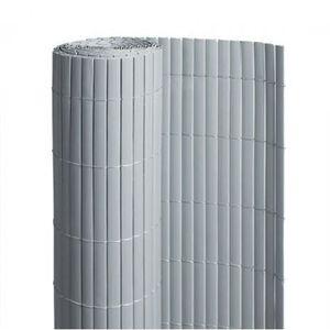 CLÔTURE - GRILLAGE Canisse en PVC gris - 90% d'occultation - longueur